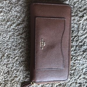 Coach authentic brown wallet